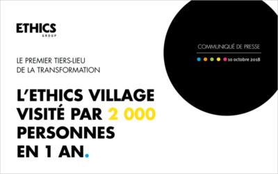 L'ETHICS VILLAGE VISITÉ PAR 2 000 PERSONNES EN 1 AN