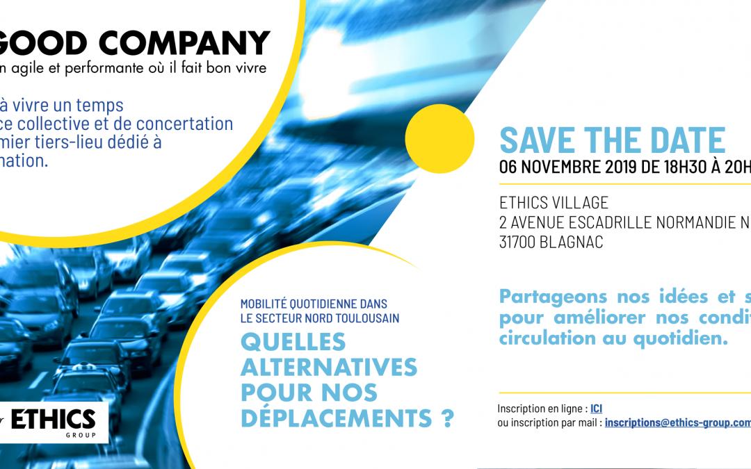 06/11/2019 – Quelles alternatives pour nos déplacements ? – Save the date