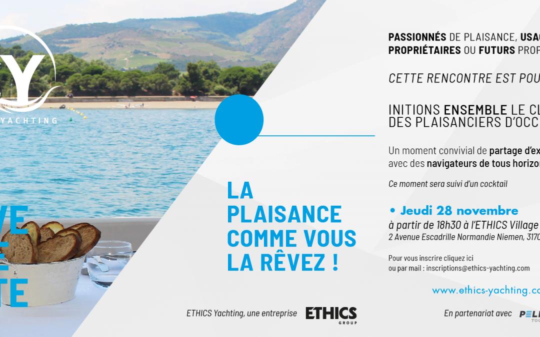 28/11/2019 – Initions ensemble le Club des plaisanciers d'Occitanie – Save the date