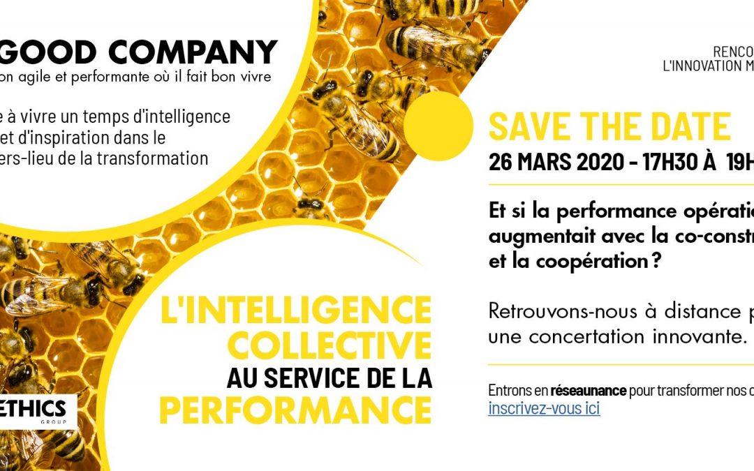 26/03/2020 – L'intelligence collective au service de la performance – Save the date