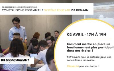 02/04/2020 – Construisons ensemble le système éducatif de demain – Save the date