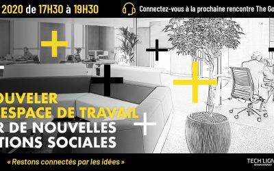 30/04/2020 – Renouveler son espace de travail pour de nouvelles relations sociales – Save the date