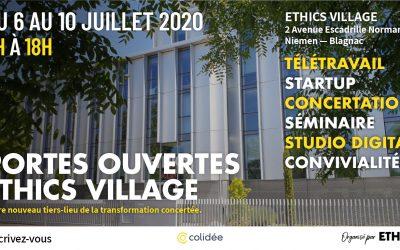 Journées Portes Ouvertes ETHICS Village – 6 au 10 juillet 2020
