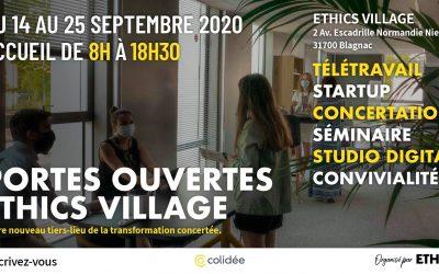 14-25 septembre 2020 – L'Ethics Village vous ouvre ses portes !